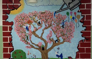 One of the few murals painted by our talented students