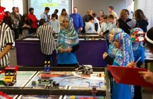 Al-Huda Girls Lego Robotics Team Competiting